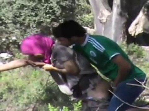 Чеченская пара трахается на природе